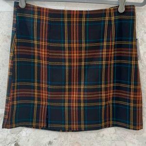 TILLYS {M} Plaid Mini Skirt Sky & Sparrow NWT